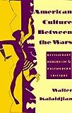 American Culture Between the Wars : Revisionary Modernism and Postmodern Critique, Kalaidjian, Walter, 0231082797