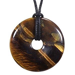 Morella Collar para Mujer 80 cm y Colgante de Gema en Forma de Donut en Bolsa de Terciopelo | DeHippies.com