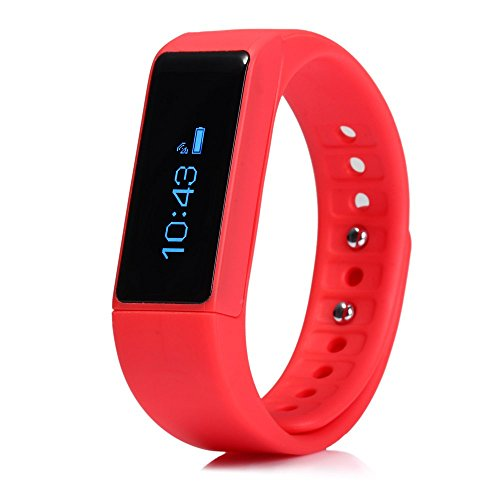 GearBest I5 Plus Smart Bracelet Bluetooth Waterproof Watch Sleep Monitoring Sports Tracking Remote Camera (Red) by...