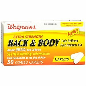 - Walgreens Back & Body Pain Reliever Coated Caplets, 50 ea by Walgreens