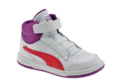 Puma completo tribunal niños zapatillas altos N. - Blanc / Fuchsia