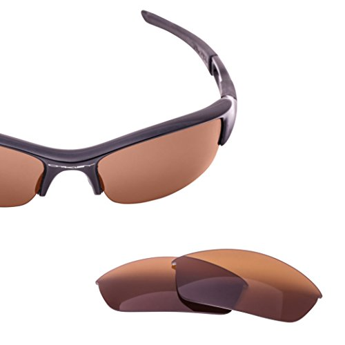 LenzFlip Replacement Lenses for Oakley FLAK JACKET Sunglass Frame - Brown Polarized Lens (Oakley Flak Lenses)