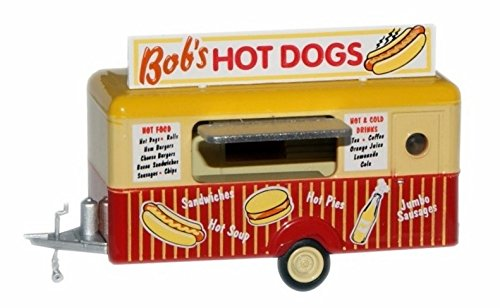 Promotional Oxfords - Oxford Diecast HO Guage 87TR001 Mobile Trailer Bob's Hot Dogs Diecast 1:87 Scale