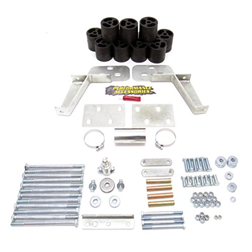 "Performance Accessories PA60003 3/"" Body Lift Kit for 98-99 Dodge Durango 4WD Gas"