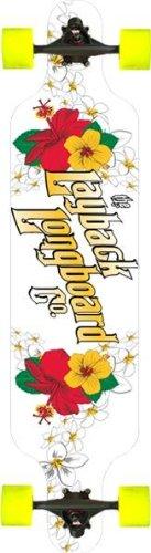 Layback Hibiscus Complete Drop Through Longboard Skateboard ()