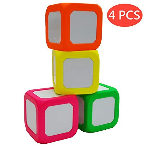 Macro Giant 3.4 Inch Foam Dry Erase Block, Set of 4, Neon Red & Neon Orange & Neon Yellow & Neon Green, Teaching Learning Aid Tool, Kid Toy, Versatile Learning [並行輸入品] B07SDC5V1R