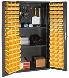 Durham - 3501-DLP-PB-96-2S-95 - Pegboard Cabinet, H 72, 2 Shelves, 96 Bins