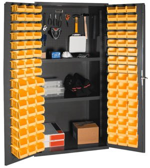 Durham - 3501-DLP-PB-96-2S-95 - Pegboard Cabinet, H 72, 2 Shelves, 96 Bins by Durham