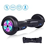 jolege Self Balancing Scooters for Kids 6.5'' Hoverboard Electric Smart Self Balancing Scooter Hoverboard Built-in LED Wheels Side Lights-UL2272 Certified (Black)