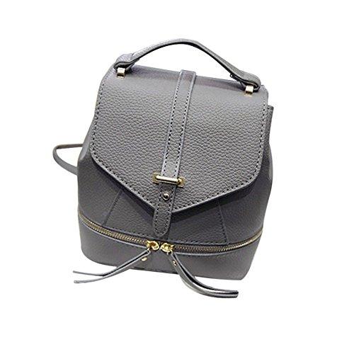 tellw para mujer niñas ocio bolsa de viaje de compras Mochila, mujer, negro, 18*19*12cm gris
