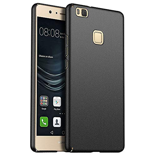 for Huawei P9 Lite Slim Case, ZUERCONG [Sand Series] Ultra-Thin Anti-Fingerprints Anti-Scratch Anti-Drop Shockproof Hard Plastic Protective Back Phone Cases Cover,Sand Black
