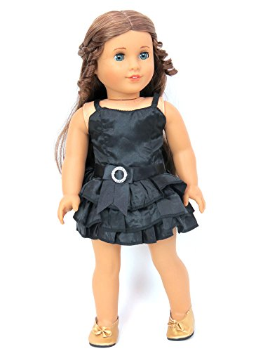 18 Inch Doll Clothes - Little Elegant Black Dress Outfit, Fits 18