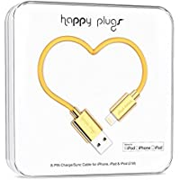 Happy Plugs Data Cable for iPhone 5/5s/5c/6/6 Plus and Other Smartphones- Retail Packaging - Gold