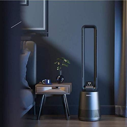 Circolatore d'aria a vertical ventaglio senza foglie, materiale ABS ecologico, adatto per interni, camere da letto, casa e ufficio, nero nanA98Ww