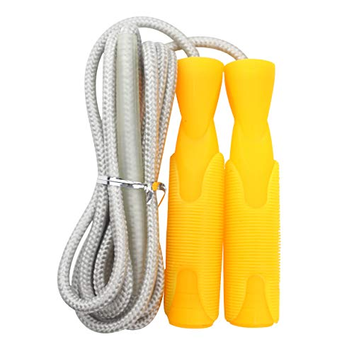 GGDD FIT Speed Jump Rope with Carrying Pouch for Adults - Comfortable Ball-Bearing Handle and Adjustable Cotton Rope - Great for Cardio Training, Boxing, and MMA Workouts
