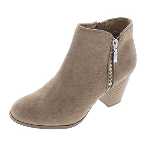 - Style & Co. Womens Jamila Faux Suede Ankle Booties Taupe 8 Medium (B,M)