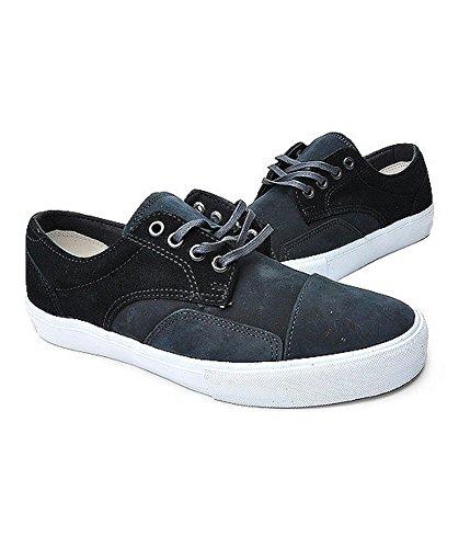 Skate Mens Lo Vans Sneakers Carbonblack Suede Leather Zero Xqw84Z