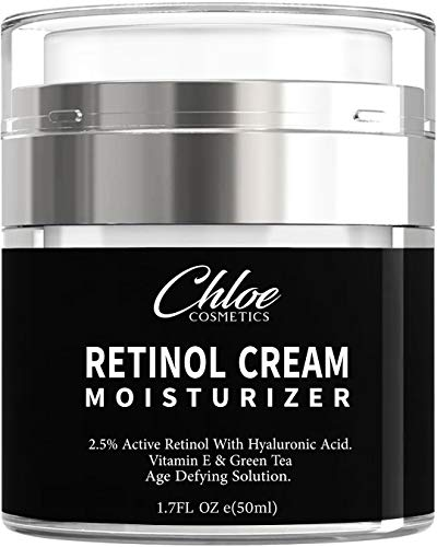 41A0MVkYj5L - Retinol Moisturizer for Face and Eye area | Anti Aging Cream with Hyaluronic Acid, 2.5% Active Retinol and Vitamin E | Reduces Appearance of Wrinkles and Fine lines | Best Day and Night Face Cream