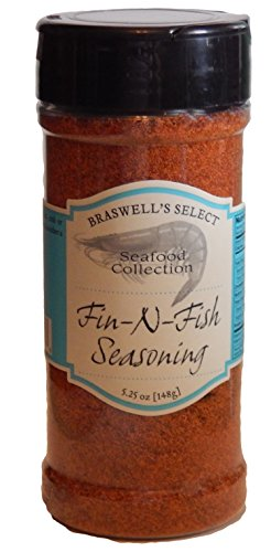 Braswells Seafood Collection Fin-N-Fish Seasoning 5.25 Oz by Braswells