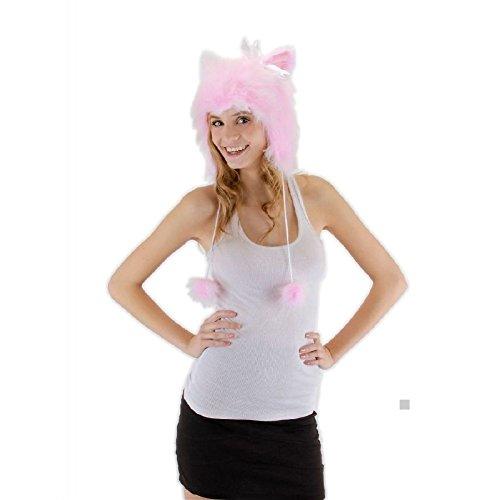 Freddy Krueger Teen Hat (Cat Hoodie Kitty Costume Hat Adult Teen Girls Halloween Fancy Dress)
