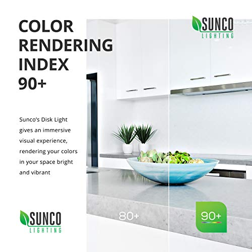 Sunco Lighting 24 Pack 5 Inch / 6 Inch Flush Mount Disk LED Downlight, 15W=100W, 2700K Soft White, 1050LM, Dimmable, Hardwire 4/6'' Junction Box, Recessed Retrofit Ceiling Fixture by Sunco Lighting (Image #4)
