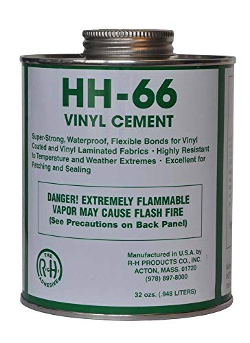 RH Adhesives HH-66 PVC Vinyl Cement with Brush 32 Ounce (2 Pack)