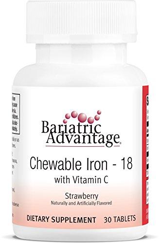 Bariatric Advantage - Chewable Iron 18mg - Strawberry, 30 Co
