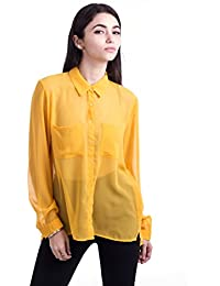 Amazon.com: Gold - Blouses & Button-Down Shirts / Tops & Tees ...