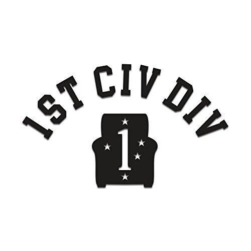 Inkfidel 1st Civ Div Decal (Black, 5-Pack (Save 10%)) (Div Decal)