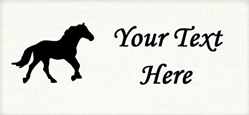 Black Horse Pony Stallion – Cotton Fabric Labels for Handmade Items/Customized Garment Clothing Size Fabric Labels/Personalized Printed Fabric Sew Tag Labels/Quilt, Crochet, Knit, Sewing by Yarn Hookers