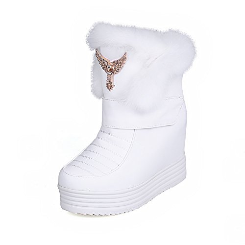 Boots Casual Resistant Slip Urethane Womens SXC01981 Tassels Wedges AdeeSu White Pvq05