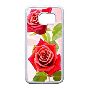 Beautiful Designed With Rose Theme Phone Shell For Samsung Galaxy S6 Edge