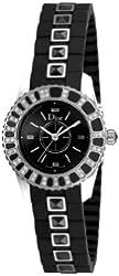 Christian Dior Women's CD112116R001 Christal Diamond Black Dial Watch