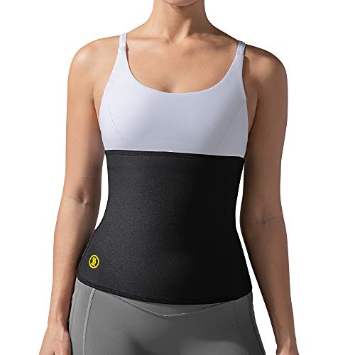 Hot Shapers Hot Belt for Women - Stomach Wrap Sweat for Slimmer Waist (Black, M)