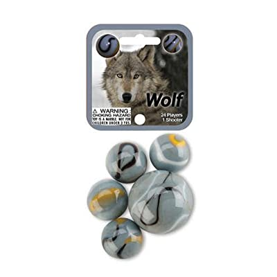 Wolf 24 Player & 1 Shooter Mega Marbles Net Set: Toys & Games
