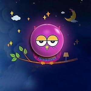 Cartoon Owl Night Light LED Light Controll Plastic