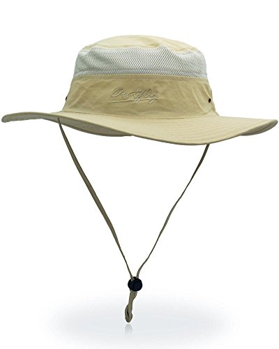 299f0ad85fa Outdoor Sun Protection Hat Wide Brim Bucket Hats UV Protection Boonie Hat 56 -62cm
