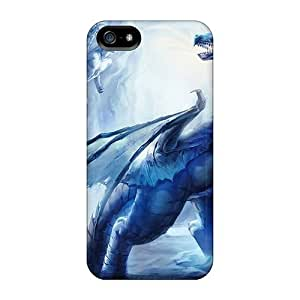 Anglams Case Cover For Iphone 5/5s - Retailer Packaging Mystic Dragon Protective Case
