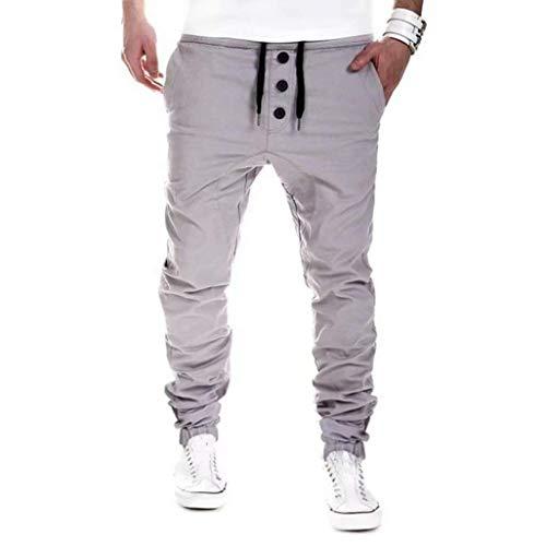 Coulisse Lunghi Pantaloni Hx Fashion Tasche Abiti Sportivi Comode Grau Con Harem Taglie UVpzMS