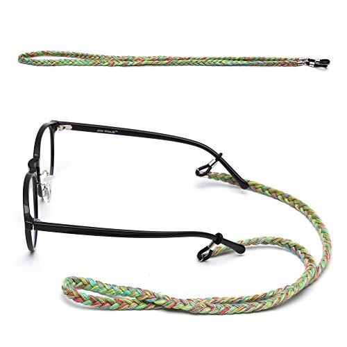 6 Paquete Caballo Cuello de Gafas Sol de Titular de Paquete de Étnico Mujer 3 de de Anteojos Cadena Cable Gafas Retenedor Correa Cola Colorido Cadena HSPwAn