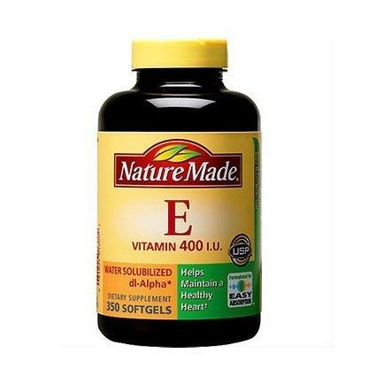 - Nature Made Vitamin E 400 IU Water Soluble 350 Softgels