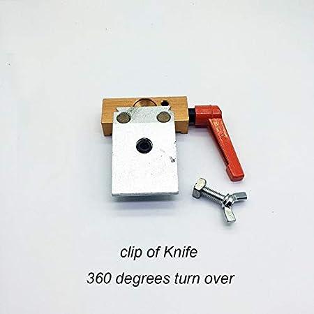 QHY SharpenUpdate Messersch/ärfersystem Umkehrmesserclip 360-Grad-Drehung Verbesserter Kreuzschieber mit Diamant-Schleifstein-///8-mm-Stahlstange