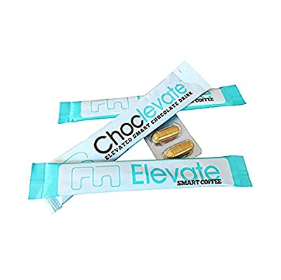 Start Feeling Happy Today! Elevacity 2 Day Product Trial, Sample Kit Includes - 2 Elevate Coffee Sticks, 2 XanthoMax caps and 1 Choclevate Stick