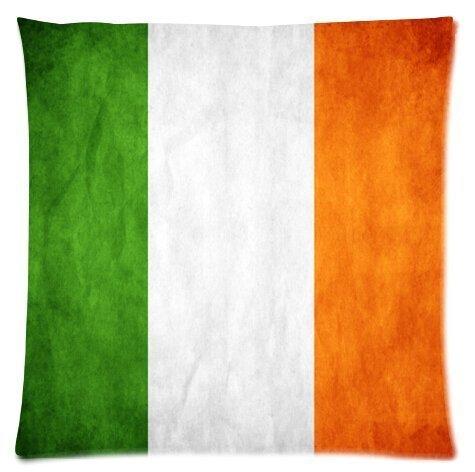 Anticso Throw Pillow Covers,Irish Flag Zippered Square Pillowcase Size:18