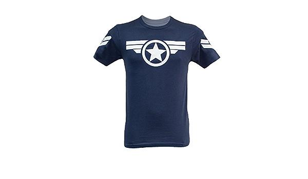 Camiseta para hombre de Capitán América Uniforme Marvel - Steve Rogers Super Soldier