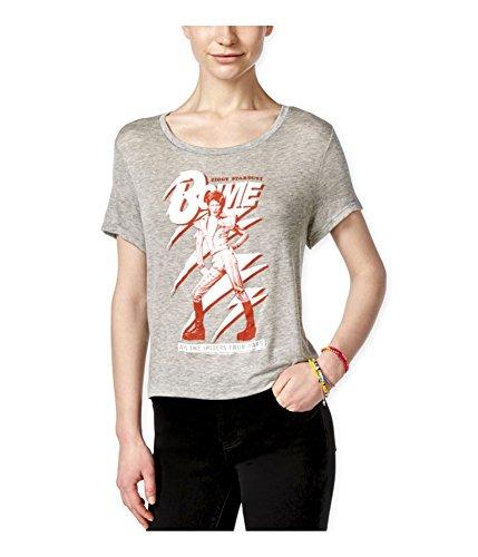 Live Nation Womens Ziggy Stardust Bowie Graphic T Shirt Heathergrey M