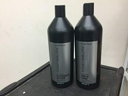Matrix Total Results Alternate Action Clarifying Shampoo Full Size (2 Piece Set, Free Comb & Spiral Hair Tie Included)