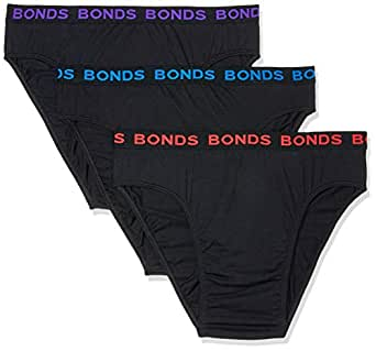 Bonds Men's Hipster Brief, Red/Purple/Blue, XXX-Large, Pack of 3