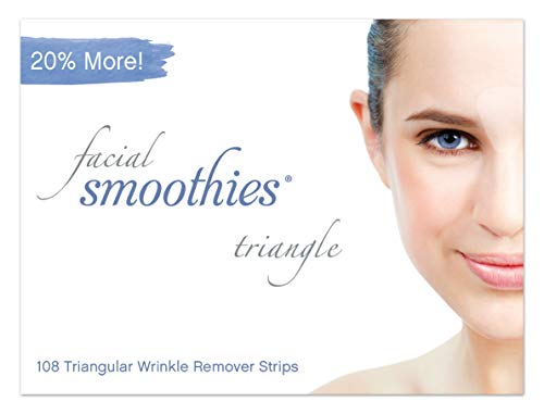 Facial Smoothies TRIANGLE Wrinkle Remover Strips, 108 Triangular Anti-Wrinkle Patches (Best Primer For Frown Lines)