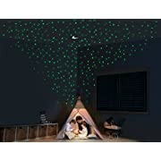 Glow Stars and Moon for Ceiling – Mega Pack of 1,102 Glowing Stickers Decorative Wall Decals for Adults and Children Bedrooms